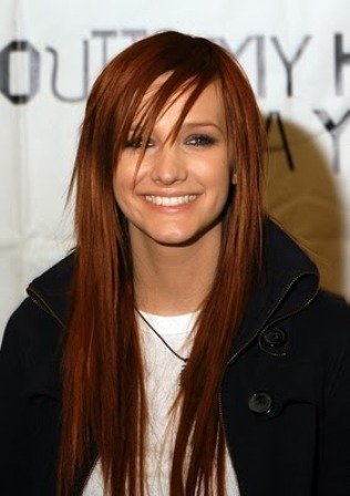 Ashlee Simpson hairstyles 2012