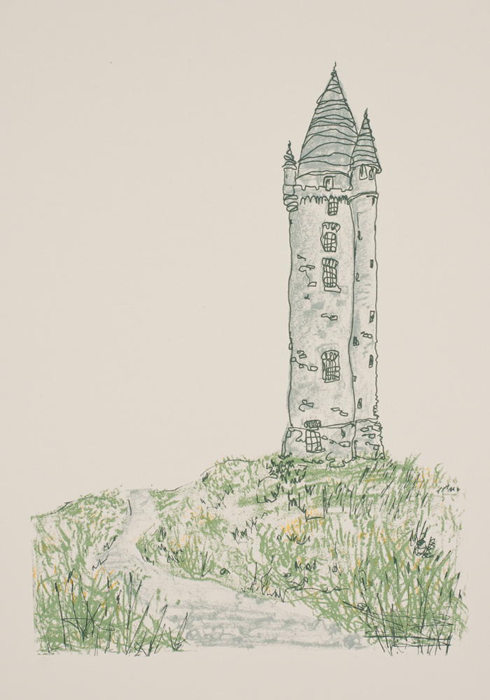 Scrabo Tower print by Flax Fox, Belfast