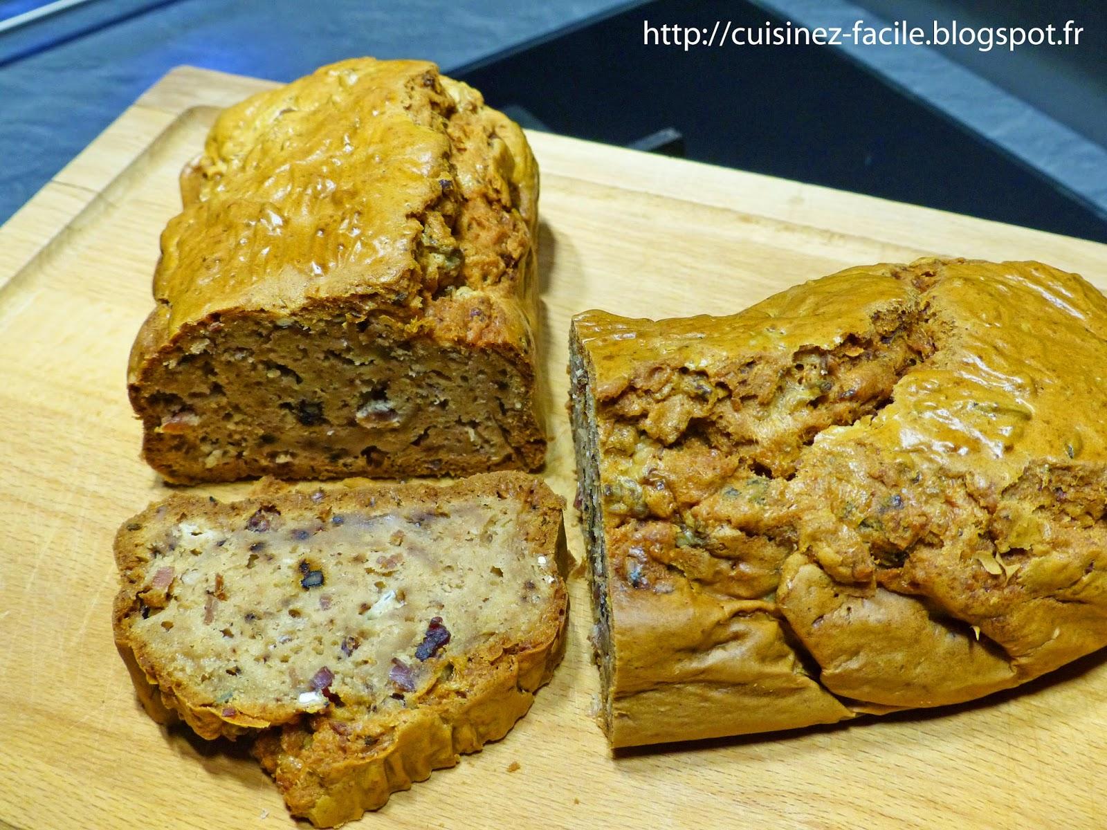Recette Cake Bleu Noix Lardons