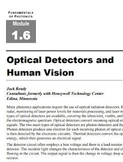 Fundamentals of Photonics : Optical Detectors and Human Vision