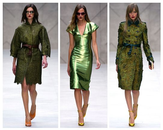 Burberry Prorsum SS13 Green Sleeves