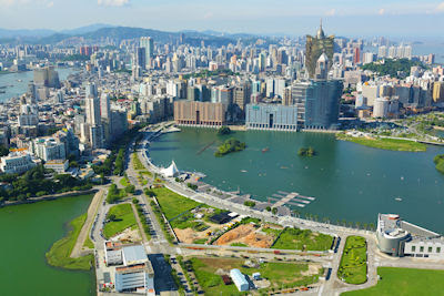 Playas en la ciudad de Macao, Guangdong, China.