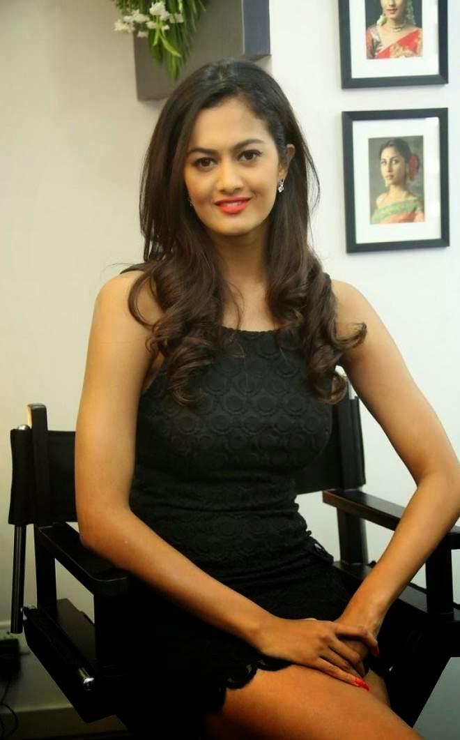 Shubra Aiyappa Latest Stills In Black Mini Skirt