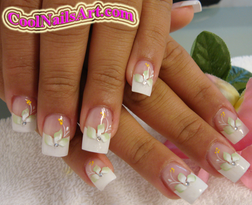 The Awesome Flower nail design for prom Image