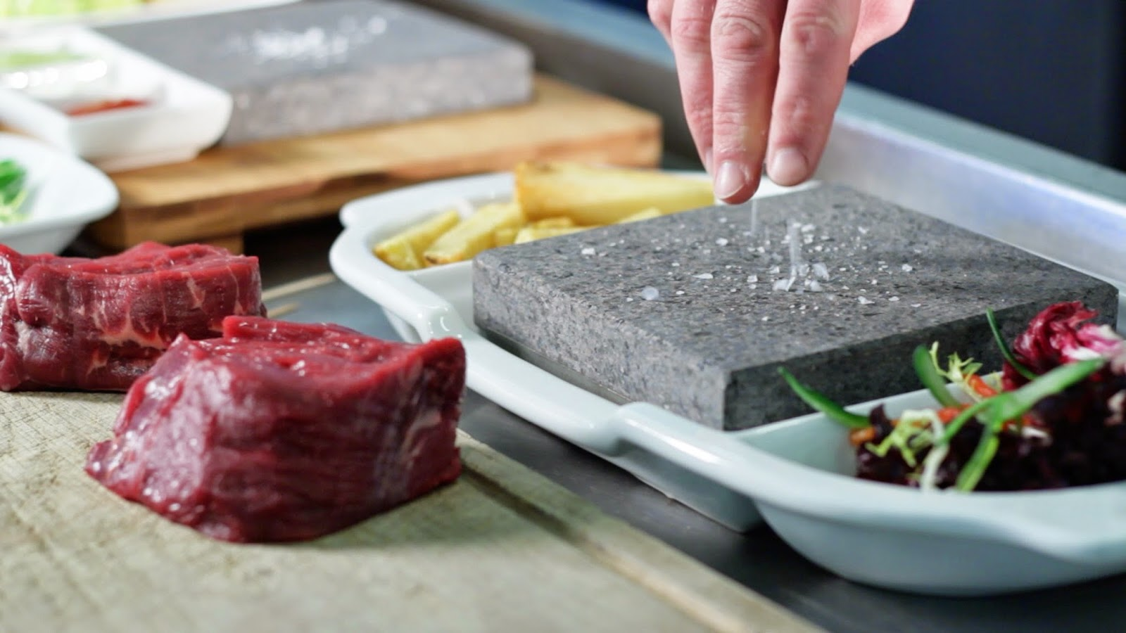 Black rock grill benefits of steak stone cooking for Cooking fish on a salt block