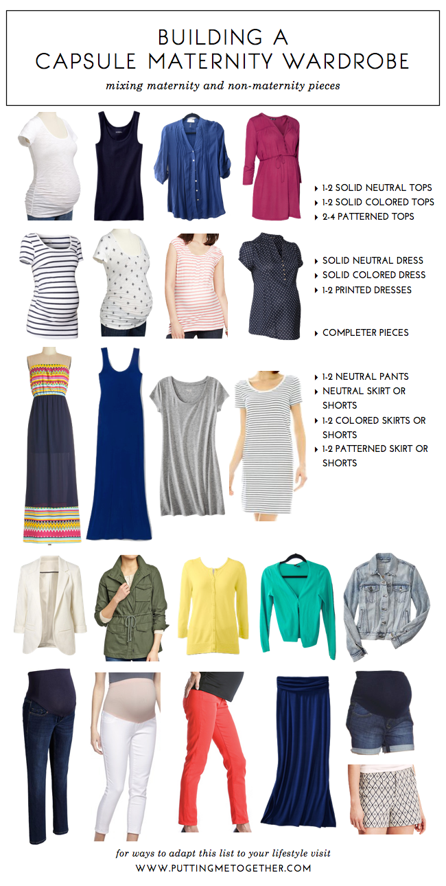 How to Build a Capsule Maternity Wardrobe - Putting Me ...
