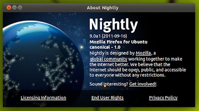 Firefox 9 Alpha 1 Ubuntu 11.04
