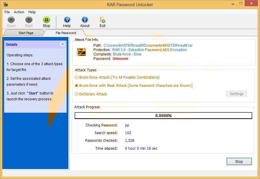 rar password unlocker 5.0 full crack