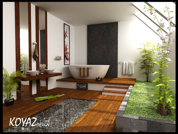 Home design idea bathroom designs zen style for Home design zen