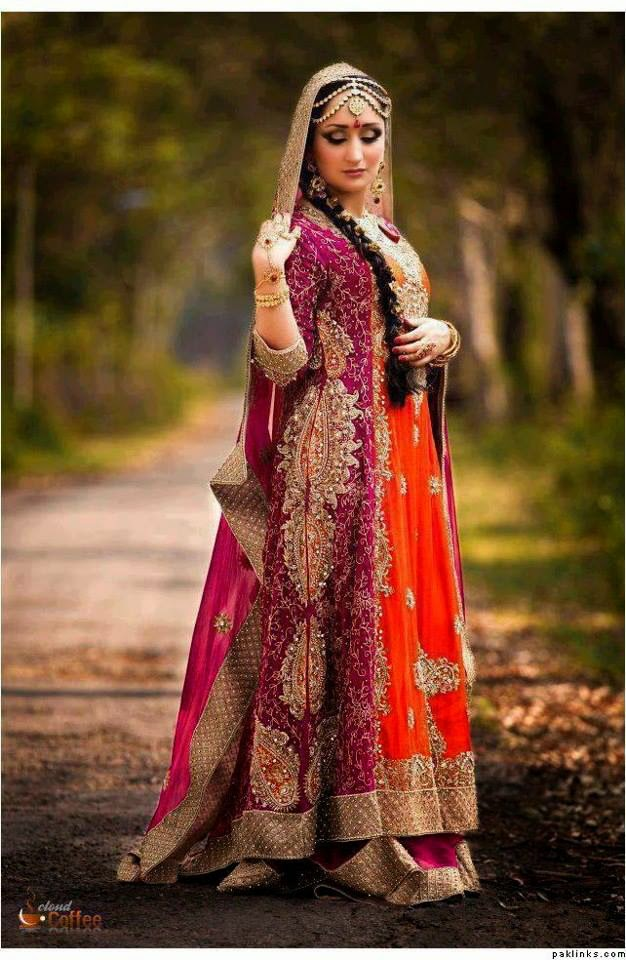 Pakistani new bridal dresses 2014 15 pak fashion for Online pakistani wedding dresses