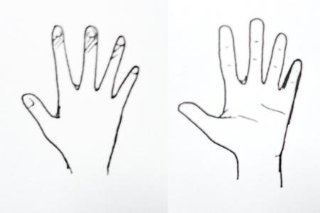 Drawing hand