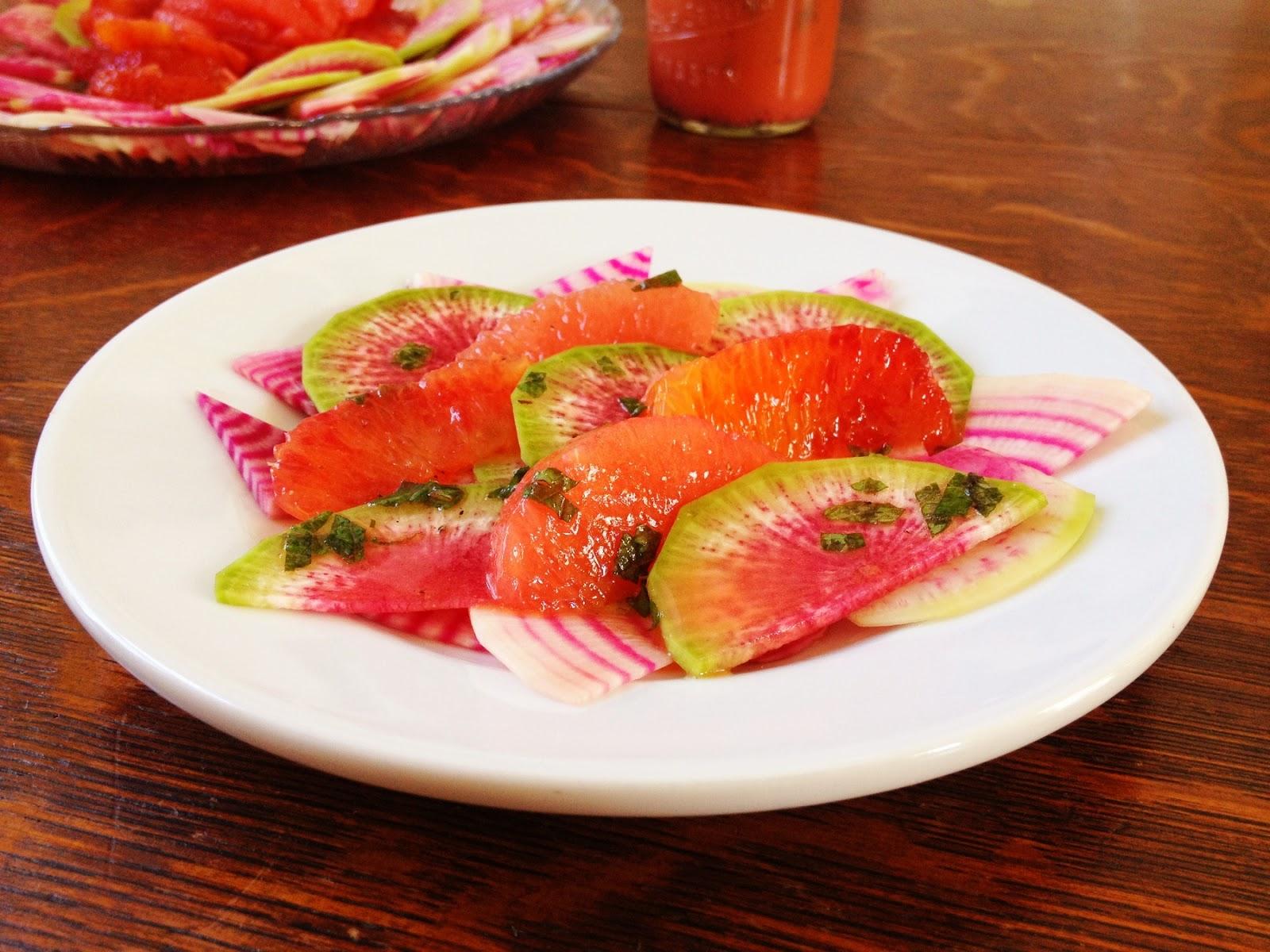 eat. drink. adventure.: Watermelon Radish & Citrus Salad