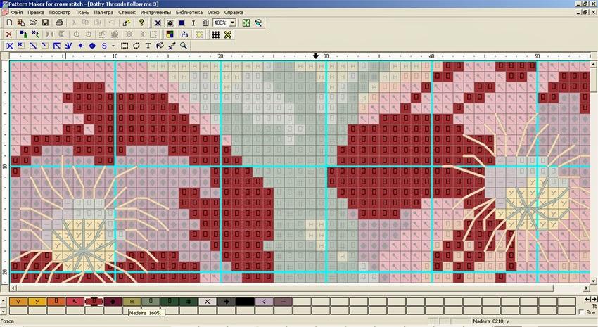(схема в программе Pattern