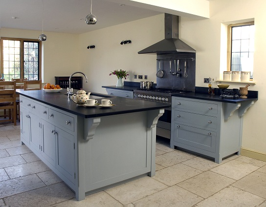 The Kitchen Is Free Standing With A Substantial Island Painted In Farrow And Ball Parma Gray