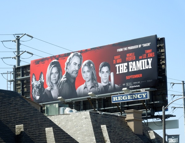 The Family billboard ad