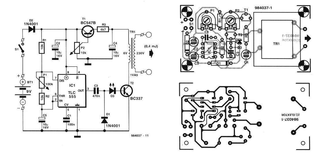 Circuitos Electronicos  Circuito Electrificador De Alambrados