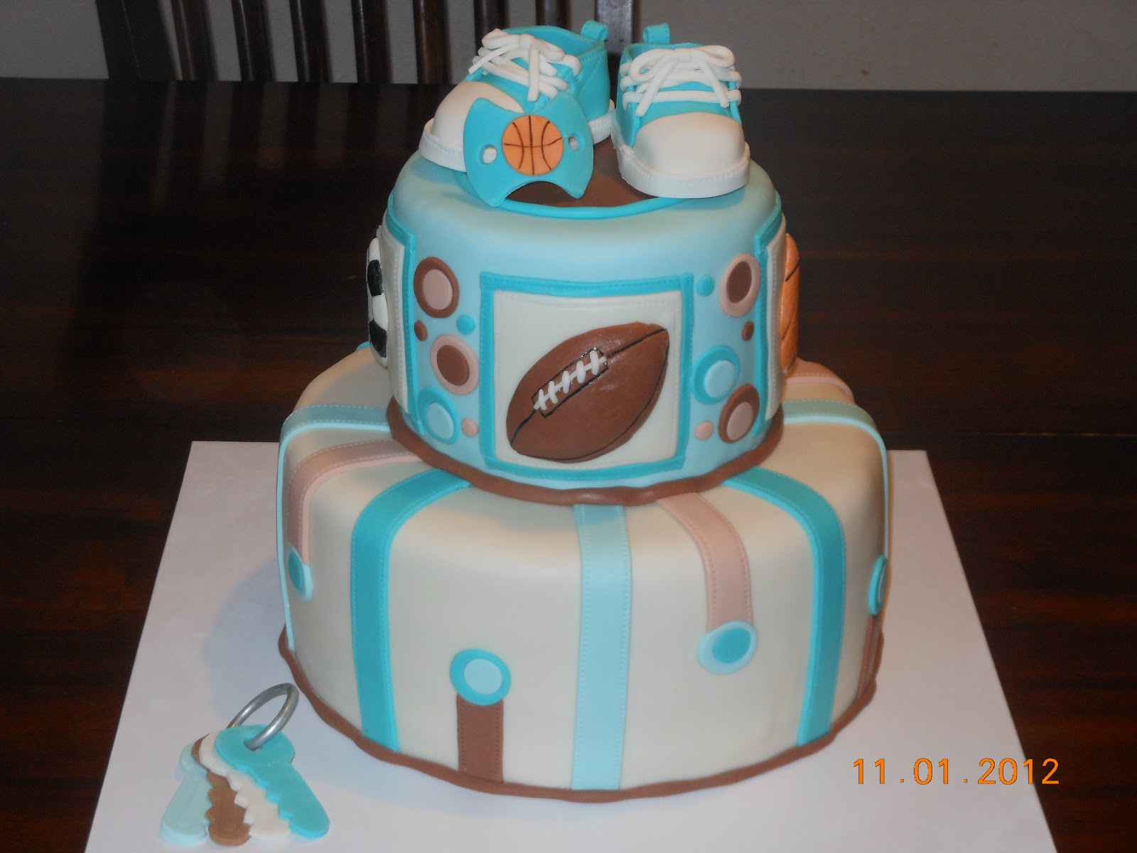 it 39 s a piece of cake sports baby boy shower cake