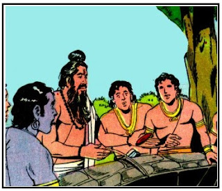 Drona with Pandavas