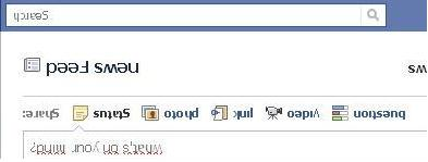 Facebook Profile Up Side Down