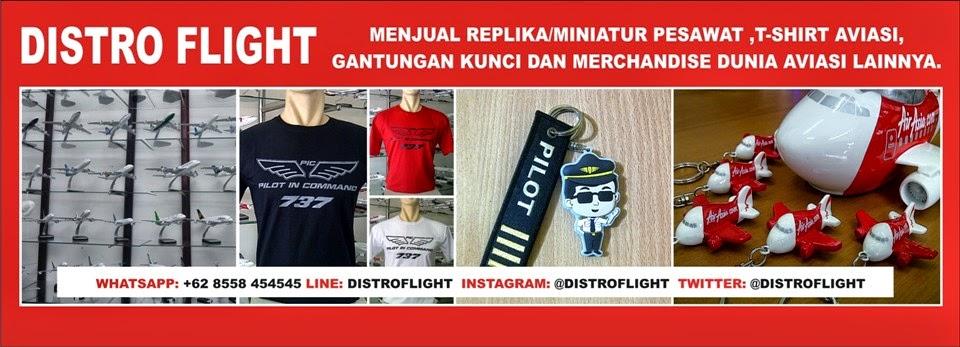 Distro Flight / Miniatur Pesawat Terbang / Replika Pesawat / Aircraft Model Indonesia - Jakarta