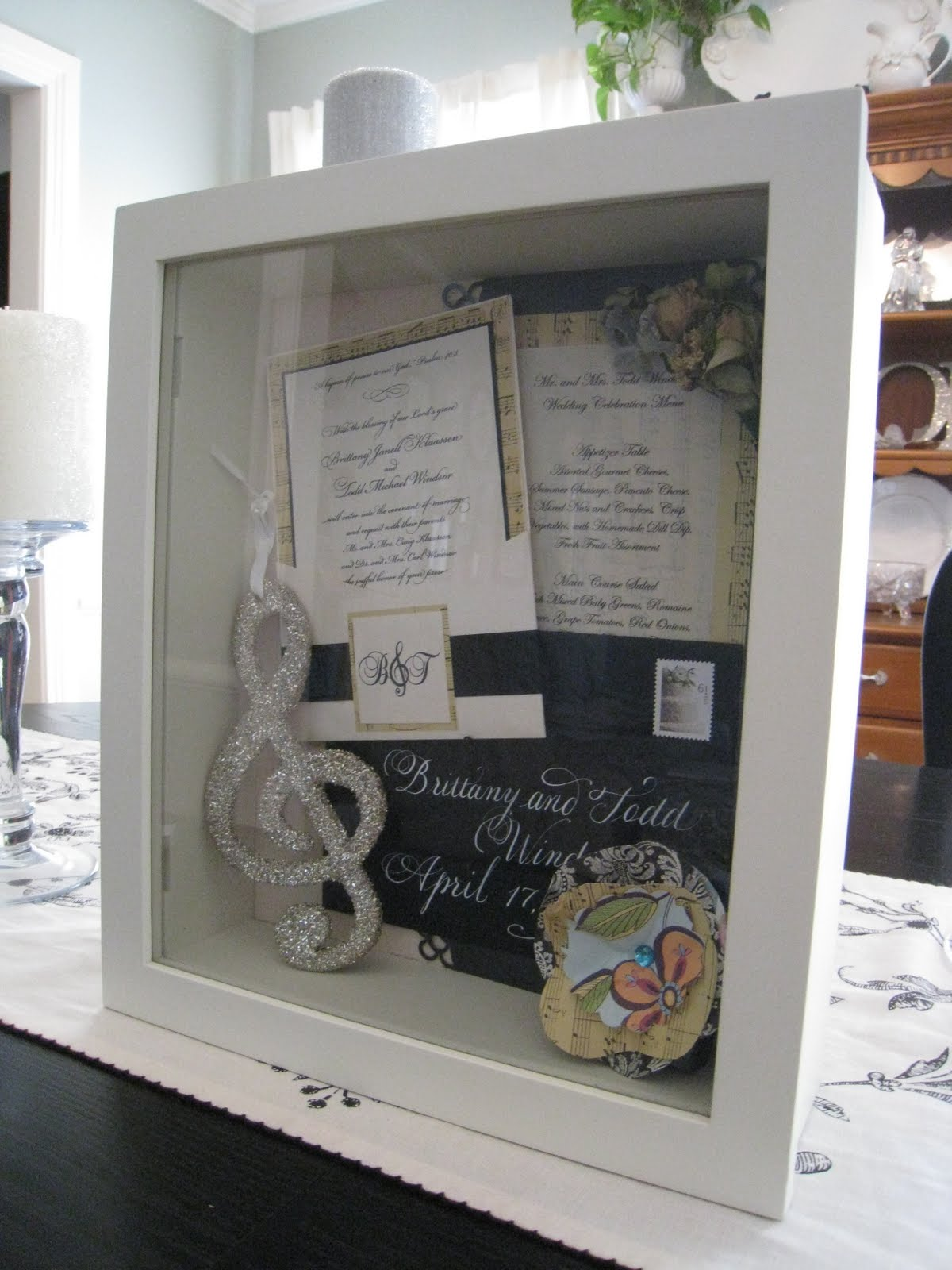 wedding shadow box wedding shadow box As soon as I get our wedding photos I may add one to the shadow box It was easy and fun to put together