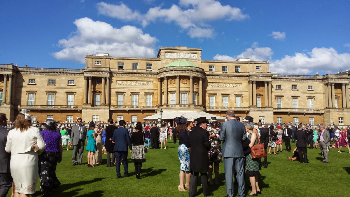 Tea at the Queen's Garden Party.