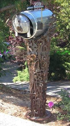 """Electrolux Rural"" sculptural mailbox art by Roger Heitzman"