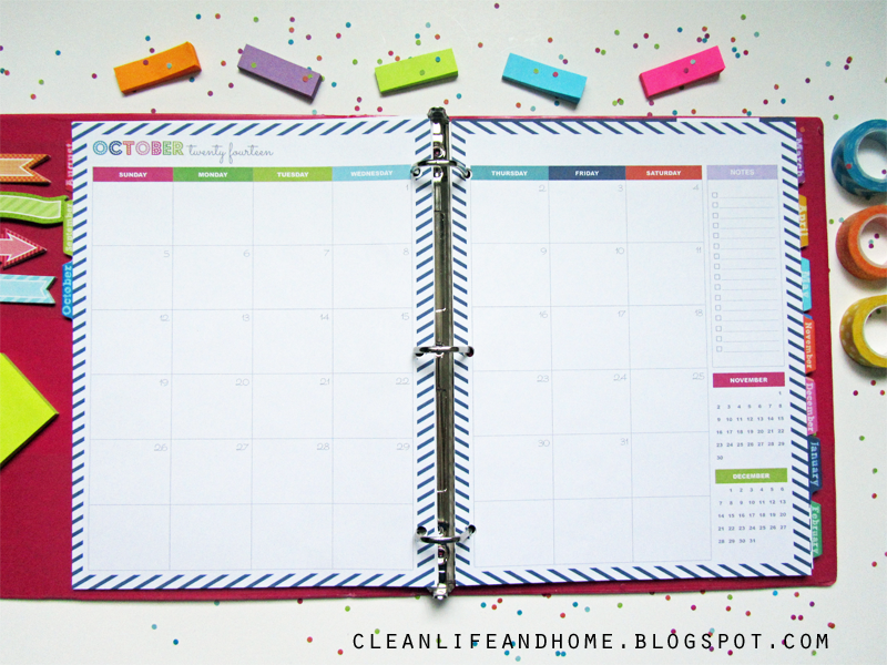 Clean Life and Home: GIVEAWAY: 2014-2015 Student Planner in Navy ...
