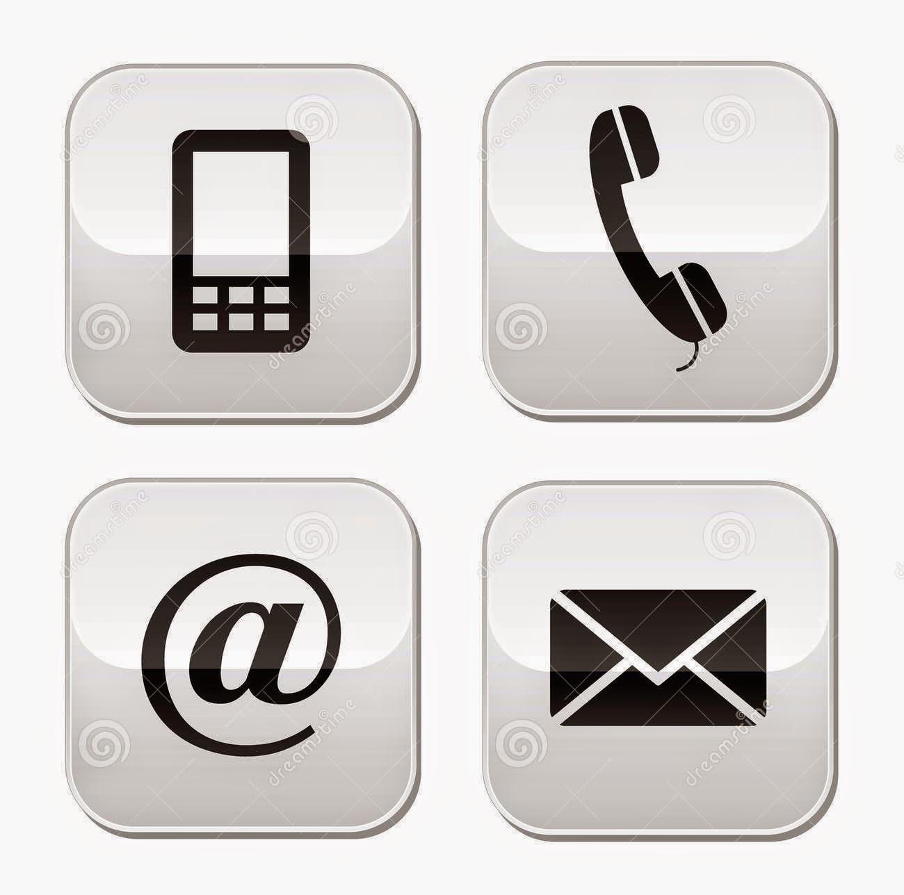 Para contactar con nosotros haga clic sobre cualquiera de los 4 iconos