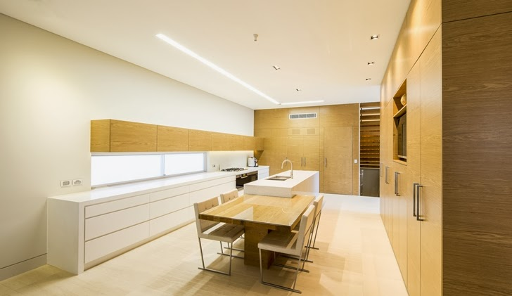 Kitchen of Beautiful Box House by Zouk Architects
