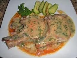 costillas de cerdo con salsa de anchoas
