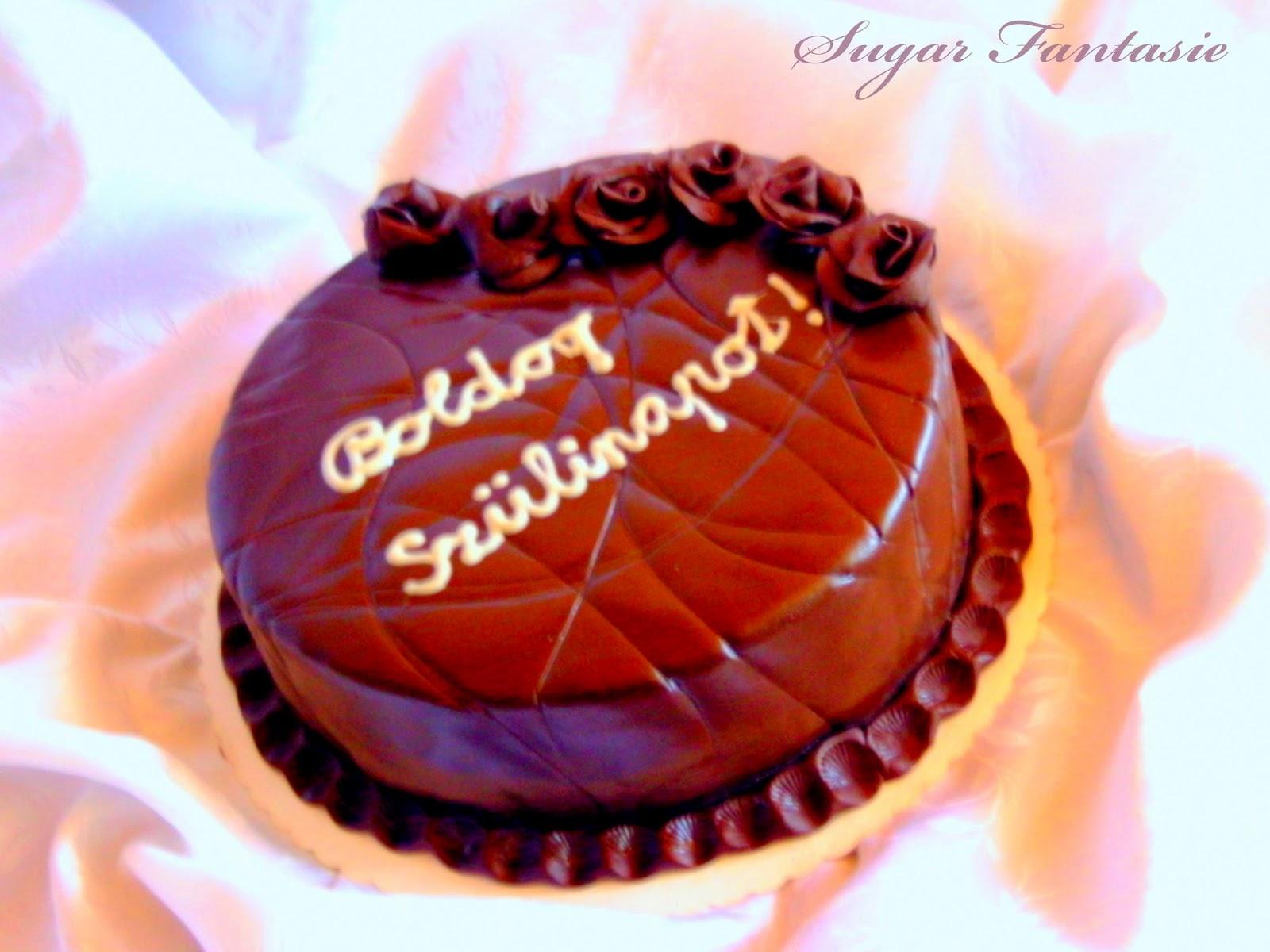 Csolokádé ganache torta