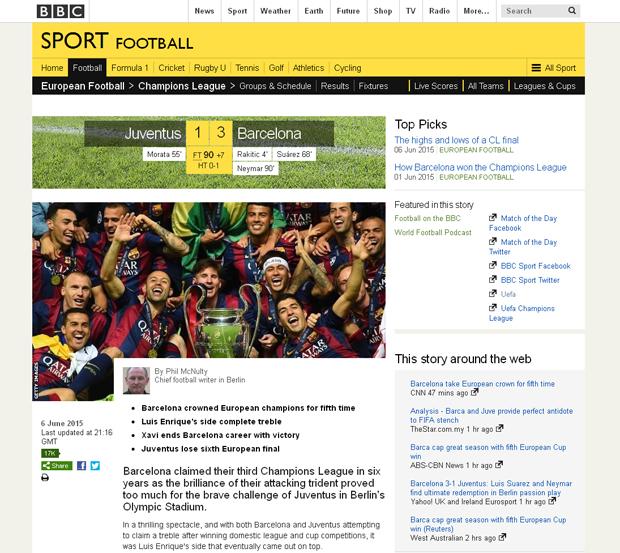 Reacciones de los medios electrónicos sobre el triplete histórico del FC Barcelona, al ganar la UEFA Champions League 2015 | Ximinia