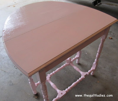 Sewing Room Table ReFinished with Paint