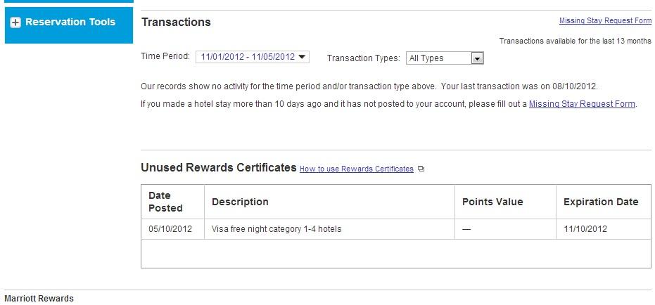 Green Espirit: How to Redeem Marriott Reward Free e-Certificate?