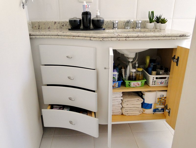 Tu Organizas Organização de Banheiro parte 1 -> Armario De Banheiro Para Guardar Toalhas