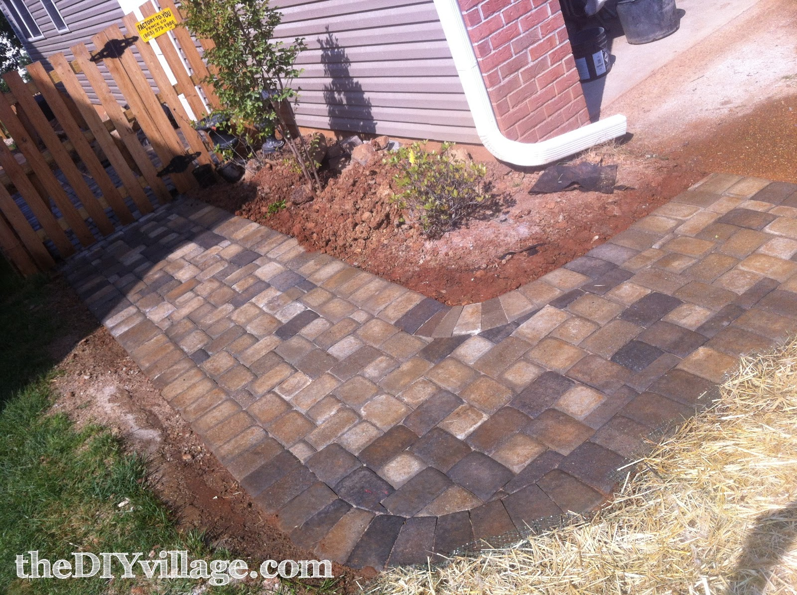 paver path hard work but worth every sore muscle the diy village