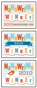 NaNoWriMo 2010 Winner