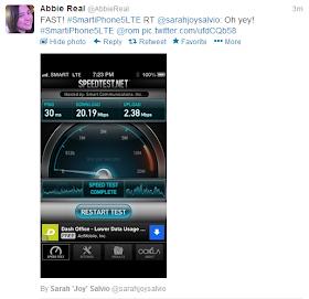 Smart LTE speedtest results