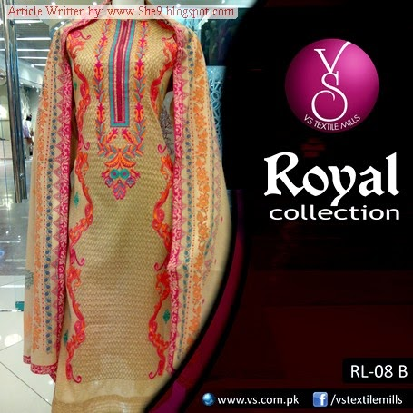 Royal Embroidered Dress Collection 2014
