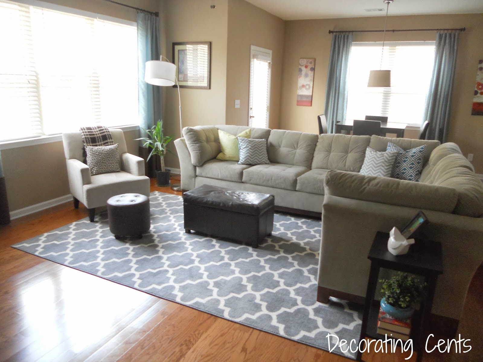 Decorating Cents: New Family Room Rug