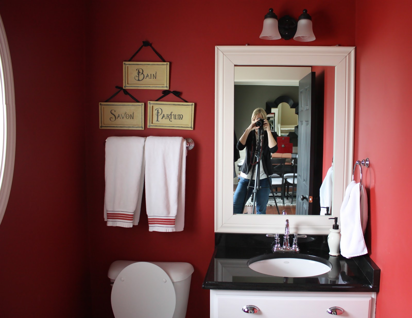 The yellow cape cod my powder room makeover with sherwin for Powder room color ideas