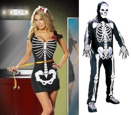 imagens, halloween, fantasias de halloween, gatas sexy, fantasia de esqueleto, a diferença entre as fantasias de halloween femininas e masculinas, eu adoro morar na internet