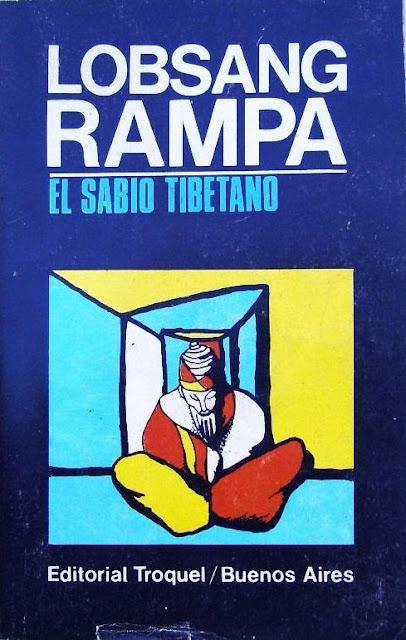 """Portada de la edición argentina de """"El Sabio Tibetano"""" de Lobsang Rampa"""