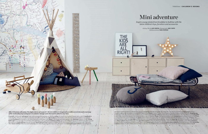 Elle deco uk modern children's room's - styling Alex Kristal  photo Jake Curtis