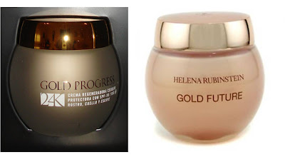 Envase Gol Progress de Mercadona vs envase Gold Future de Helena Rubinstein