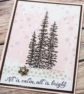 Pretty Watercolour Wash and Wonderland Christmas Card made using Stampin' Up! UK supplies - get them here