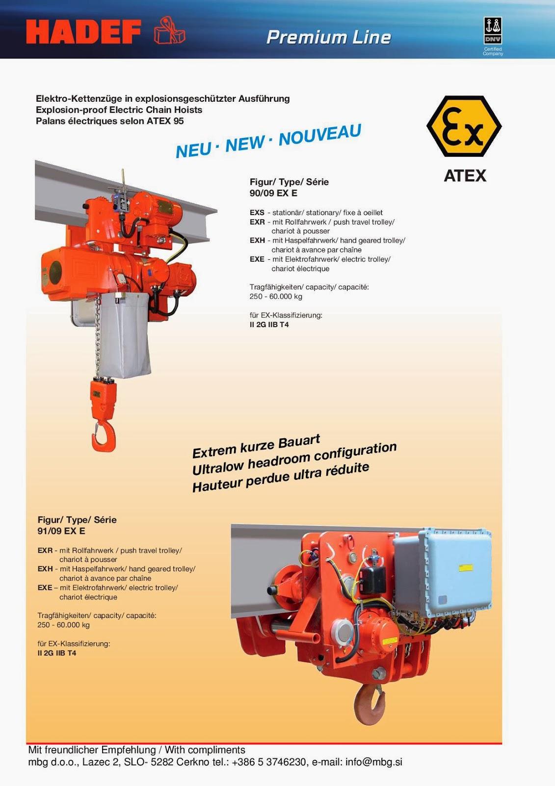 Elektro-Kettenzug / Electric Chain Hoist / Palan Electrique à chaîne - 12