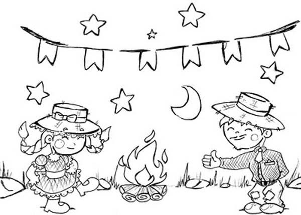 Desenhos para imprimir e Colorir Festa Junina 2014