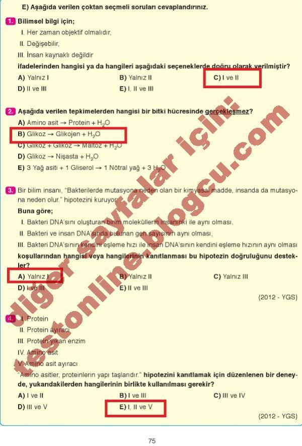 9sınıf Biyoloji Ders Kitabı Cevapları Resimlere Göre Ara Red